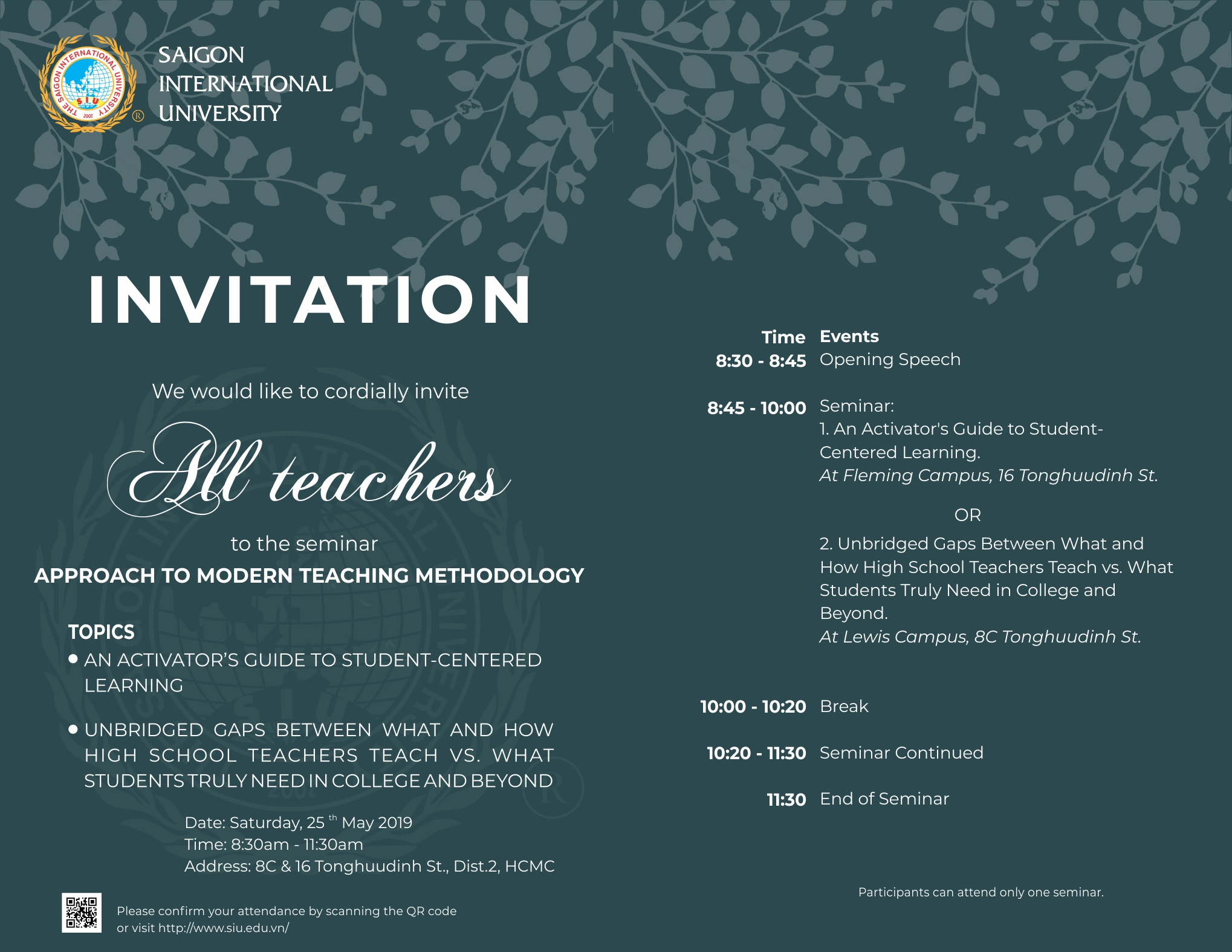 SEMINAR ON APPROACH TO MODERN TEACHING METHODOLOGY