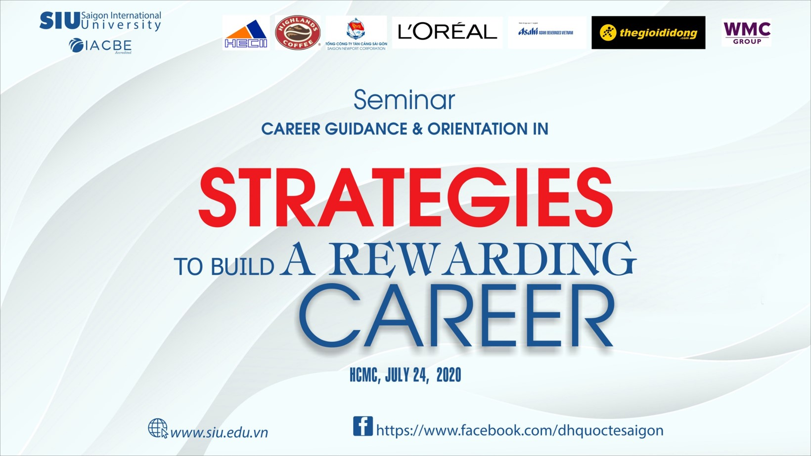 "The seminar on ""Strategies to build a rewarding career"""